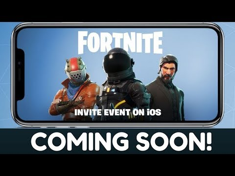 FORTNITE on iPhone/iOS! Coming Soon...