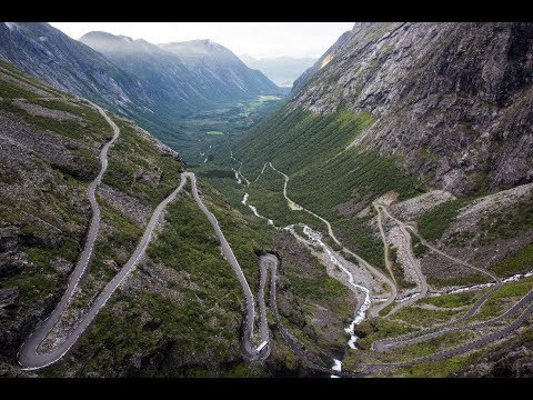 Trollstigen/Stigfossen August 2017 driving down with motorcycle LESS SHAKY TRAVEL VIDEO TOMORROW