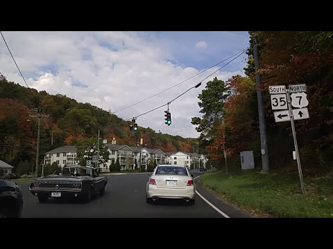 Driving on Route 7 from Ridgefield to Danbury,Connecticut