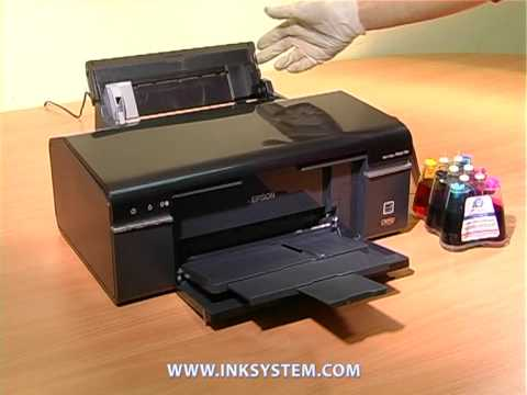 How to make cleaning of printing head on example of Epson T50