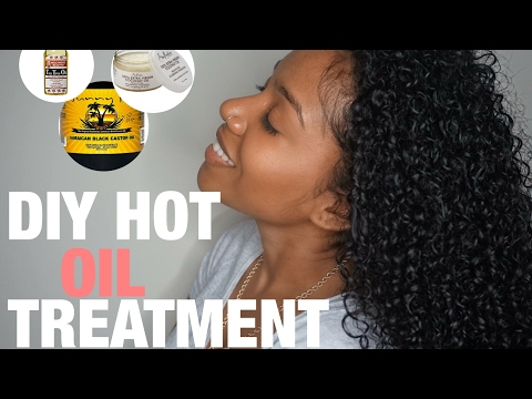 DIY Overnight Hot Oil Treatment For Dry Hair + HAIR GROWTH!!