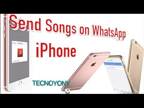 Send songs on whatsapp iPhone