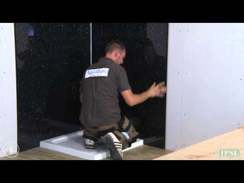 Shower wall panels - How to Install Aquabord T&G - by IPSL