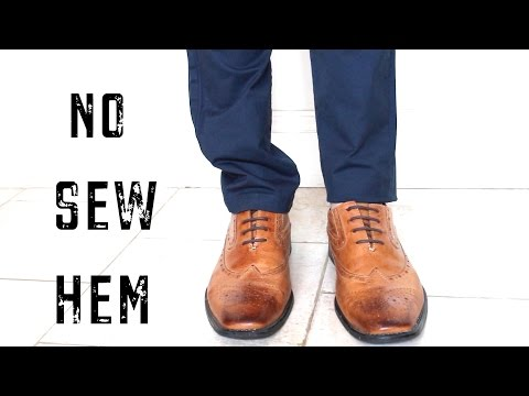 HOW TO EASILY HEM PANTS FAST | NO SEW LIFE HACK | Cheap Tip #222