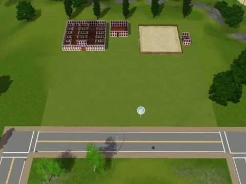 Sims 3 Build A Barn Part 2  Tack room, Arena, Paddocks and Trans