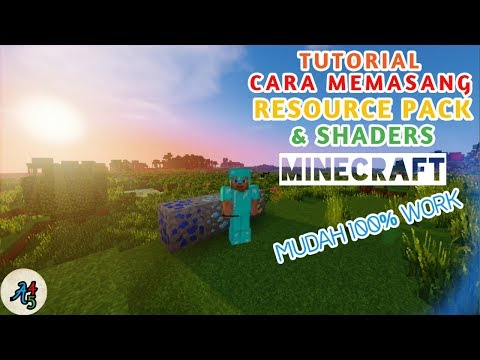 CARA MUDAH MEMASANG RESOURCE PACK dan SHADERS di MINECRAFT / 100% WORK