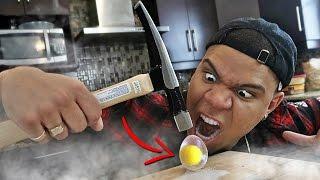 Science Experiment Liquid Nitrogen Vs Egg *instant Freezing*