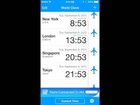 World Clock-Time Difference Clock-