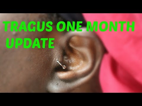 TRAGUS PIERCING: ONE MONTH UPDATE