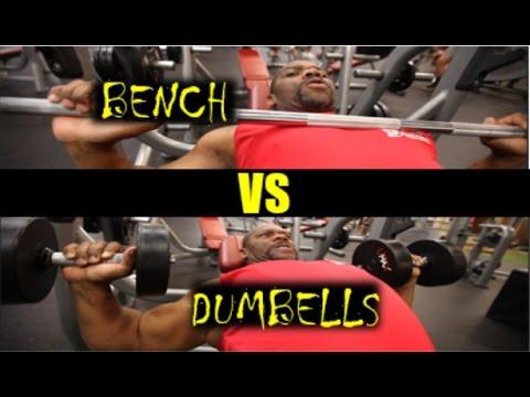 Best Upper Chest Exercise *** Barbell vs. Dumbells