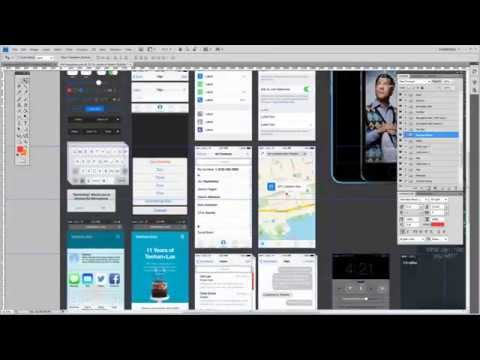 Timelapse of Mobile App Design in under 3 Minutes in Photoshop