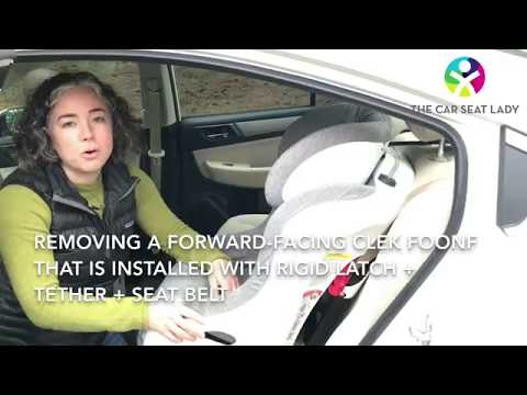 Remove a forward-facing Clek Foonf - The Car Seat Lady