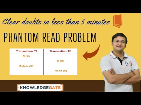 Phantom Read Problem | problems in concurrent execution of transactions | DBMS