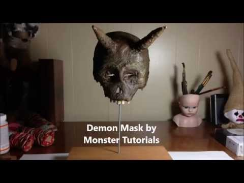 www.monstertutorials.com - Paper Mache Devil Mask