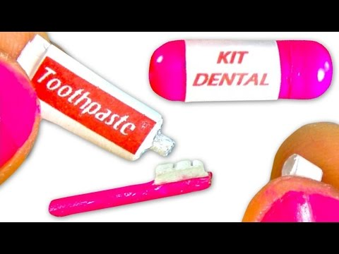 Miniature toothpaste & toothbrush tutorial for dolls - DIY - YolandaMeow♡
