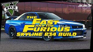 Fast Five Nissan Skyline GTR Movie Car Build Tutorial: GTA 5 (WARRENER)