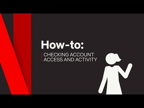 How To | Access Account & Activity | Netflix