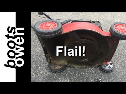 Rover Mower Flail Blade Swop