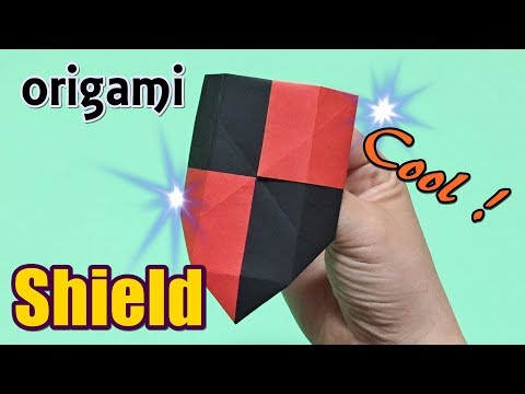 Origami Shield Easy but Cool for Kids | How to Make a Paper Shield Toy with Only One Piece of Paper