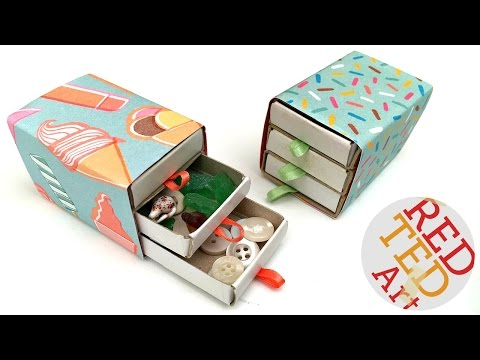 Easy Matchbox Drawers - Jewelry Drawers - Sewing Set - Trinkets - NO GLUE!