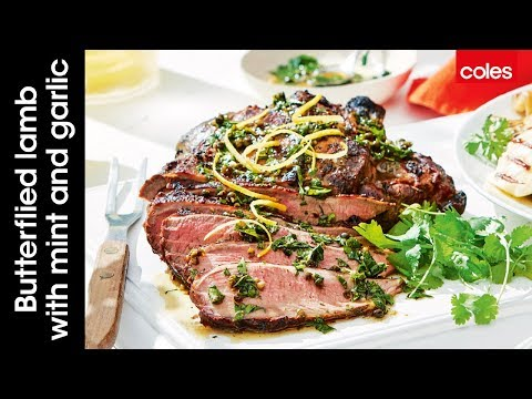 How to make butterflied lamb with mint and garlic
