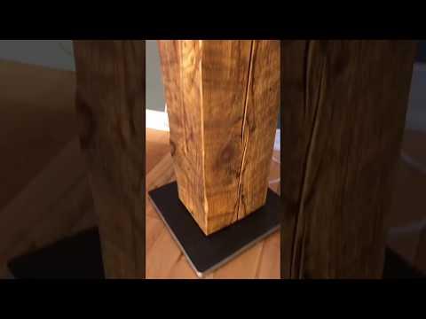 Reclaimed Wood Beam Floor Lamp