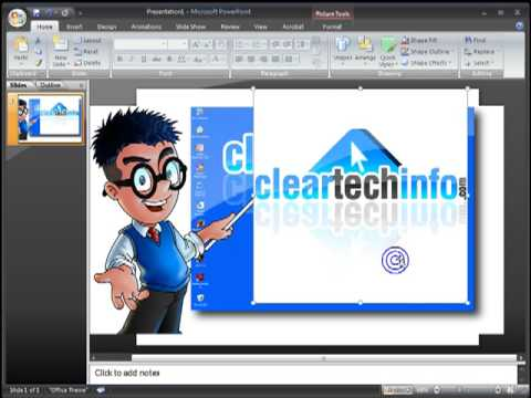 How-To Make an Image Partially Transparent in Powerpoint 97