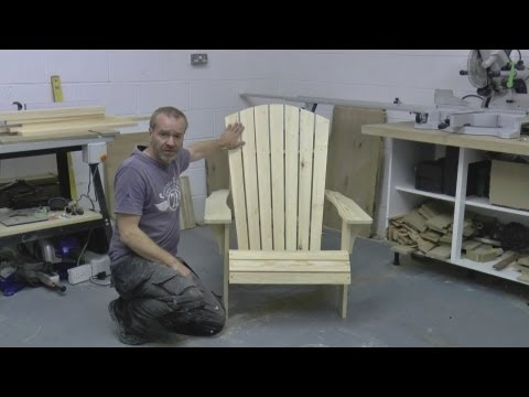 How to build an Adirondack Chair Part 1 SAVE MONEY build your own!!