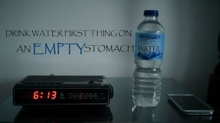 Drink water in the morning on an empty stomach