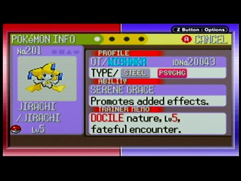 Pokemon Colosseum - Bonus Event Jirachi