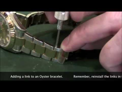 Rolex Training - Bracelet adjustment - Chapter 17