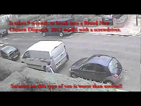 CAR CRIME - CITROEN DISPATCH VAN 2011 MODEL