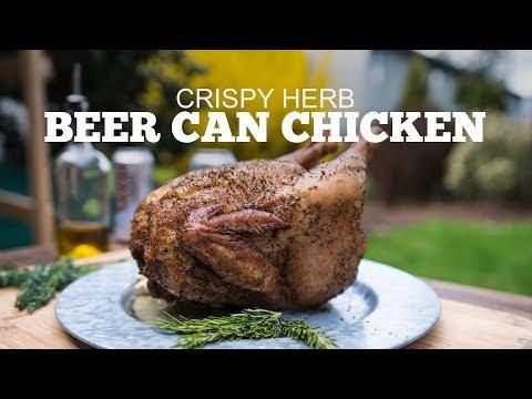 Crispy Herb Beer Can Chicken