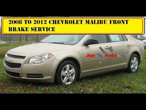 2008 -2012 chevy malibu front brake pad & rotor replacement