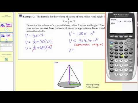 Circumference, Volume of a Cone, Pythagorean Theorem (L1.5)