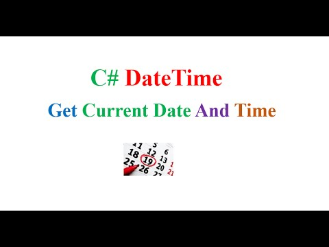 C# DateTime 02 : Get Current Date and Time
