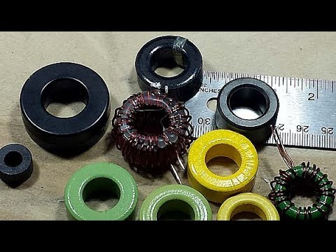 Toroidal cores for inductors
