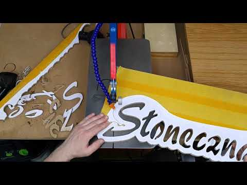 Making a Street Name Sign on the Scroll Saw