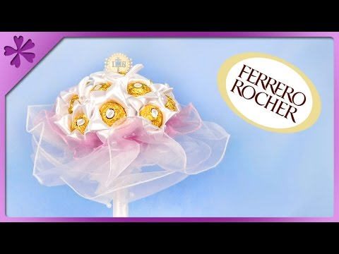 DIY Ferrero Rocher bouquet, for wedding, First Communion (ENG Subtitles) - Speed up #343