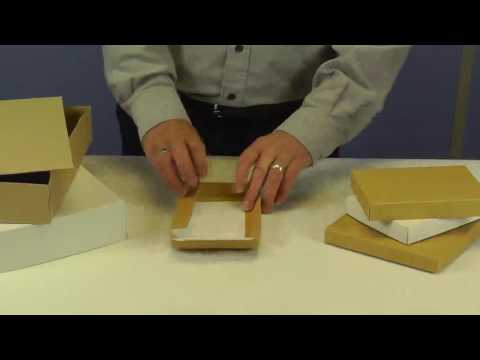 Flat Folding Presentation Boxes with Lift Off Lids