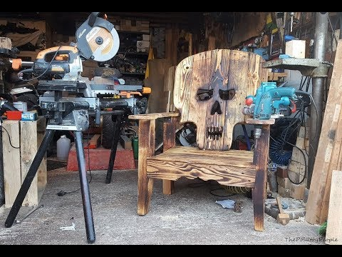 DIY Skull Chair - Pallet Projects
