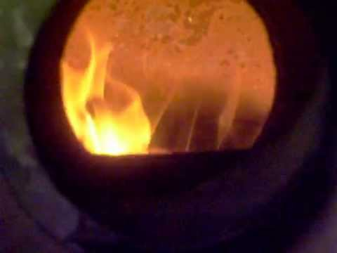Lighting oil furnace with burning shop towel when transformer went out
