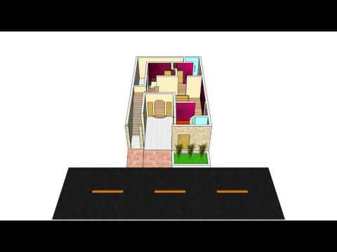 3D House Floor Plan | DG Khan, Pakistan | 29' x 46' - 5 Marla