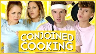 CONJOINED COOKING CHALLENGE | ROOMMATE WARS