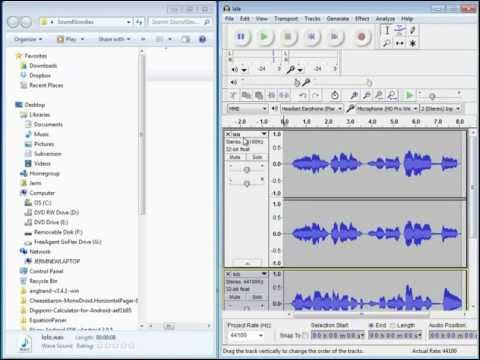 How to Merge Two Audio Files Using Audacity