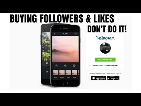 Buying Followers & Likes On Instagram (don't do it)