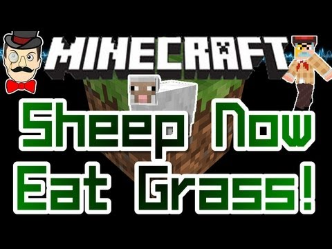 Minecraft SHEEP Now EAT GRASS & Regrow Wool in Snapshot 11w49a !