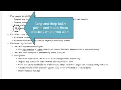 Move bullet points