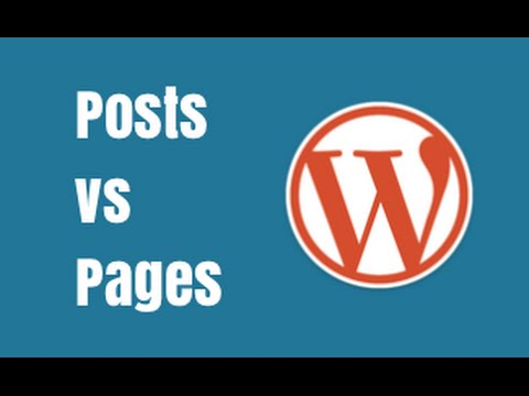 Wordpress Posts vs Pages - Quick Tutorial
