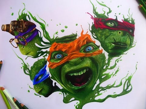 Teenage mutant ninja turtles out of the shadows :Speed drawing